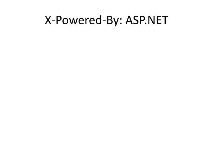 X-Powered-By: ASP.NET