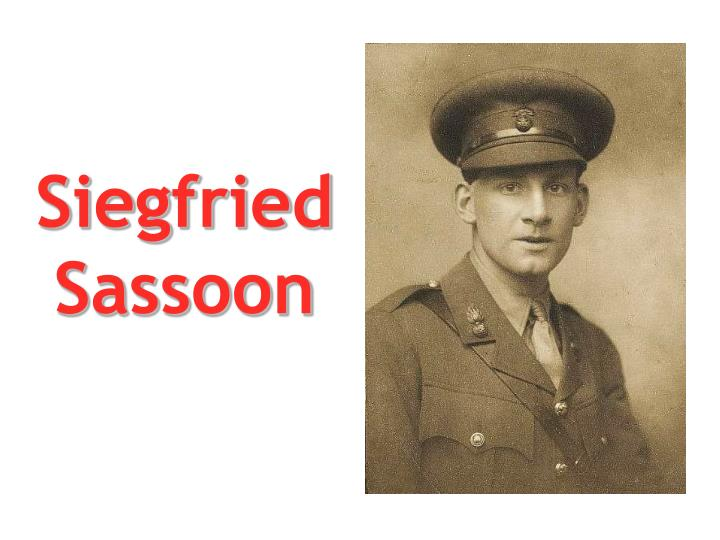 the importance of siegfried sassoon What did siegfried sassoon do to make him such a war hero more questions how did siegfried sassoons answer questions why was josef mengele important.