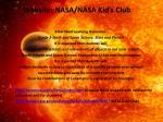 website nasa nasa kid s club