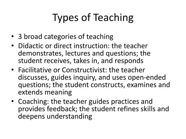 Types of Teaching