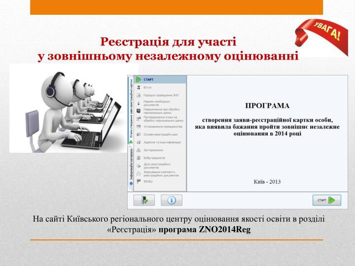 Реєстрація для участі