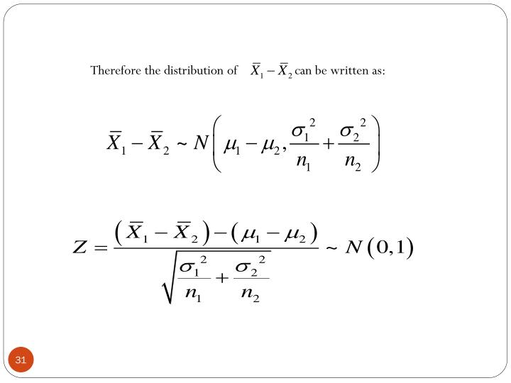 Therefore the distribution
