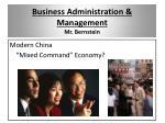 business administration management mr bernstein3