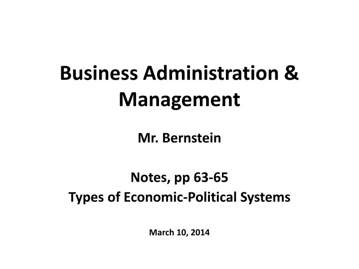 business administration management n.