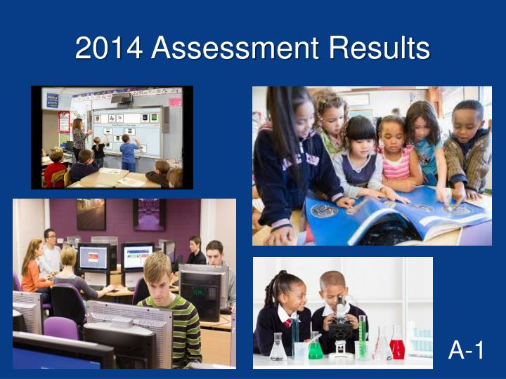 2014 assessment results