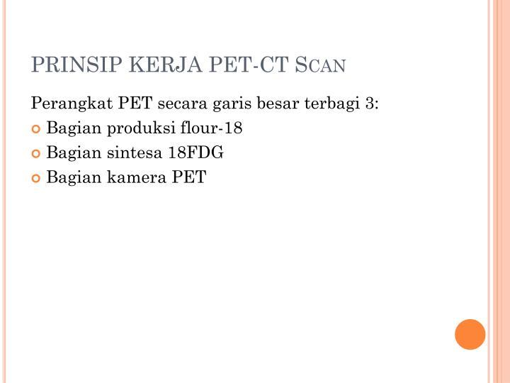 PRINSIP KERJA PET-CT Scan
