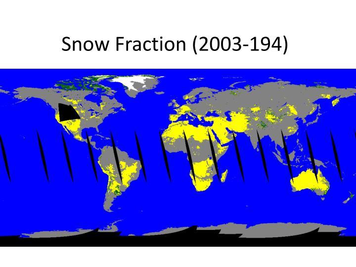 Snow Fraction (2003-194)