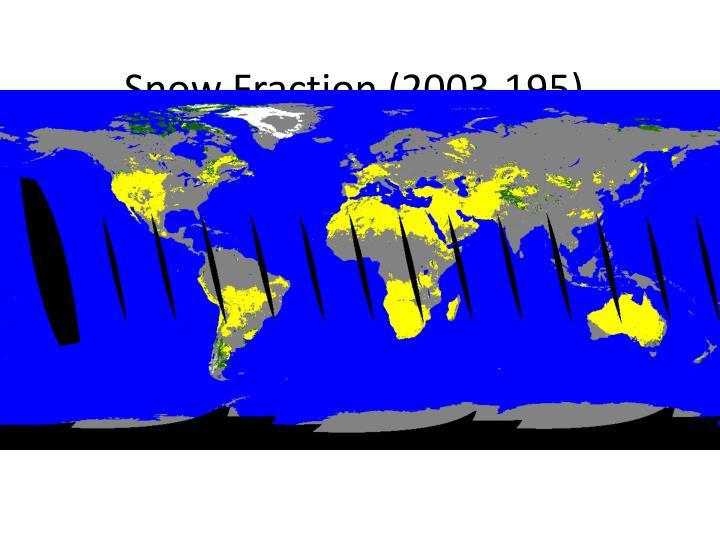 Snow Fraction (2003-195)