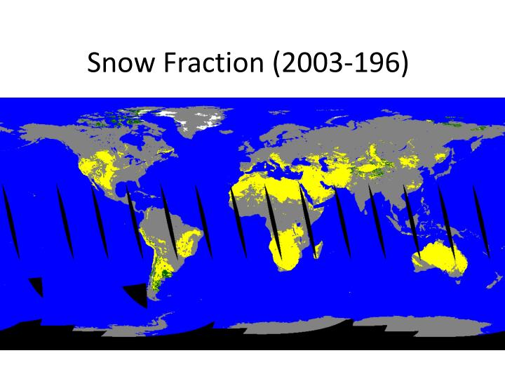 Snow Fraction (2003-196)
