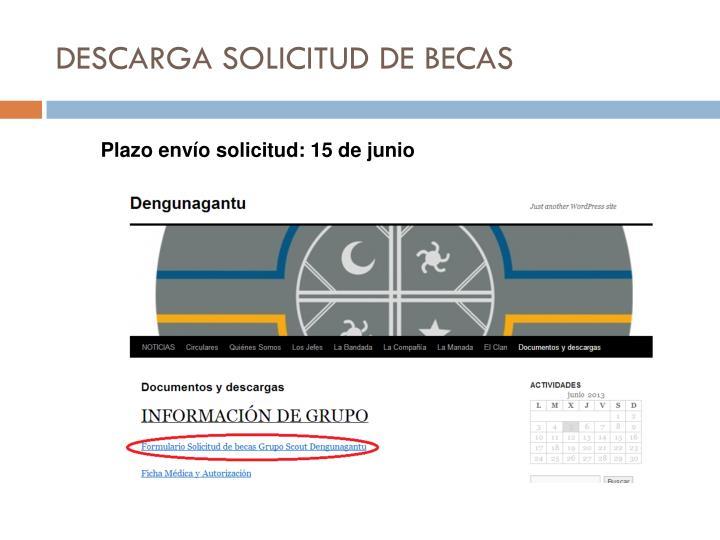 DESCARGA SOLICITUD DE BECAS