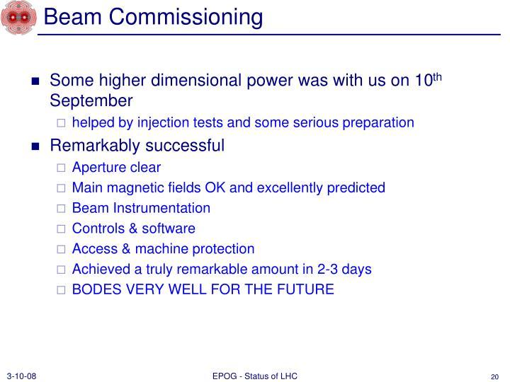 Beam Commissioning