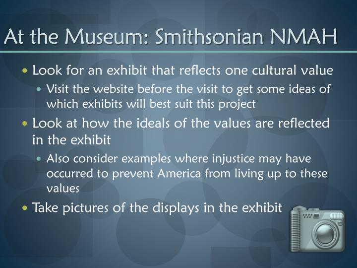 At the Museum: Smithsonian NMAH