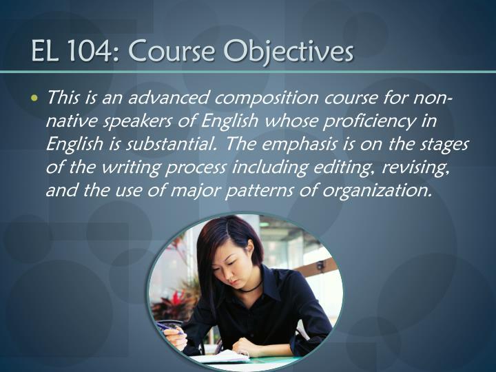 El 104 course objectives