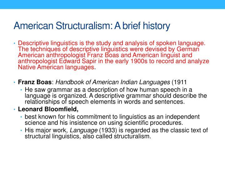 american structuralism linguistics