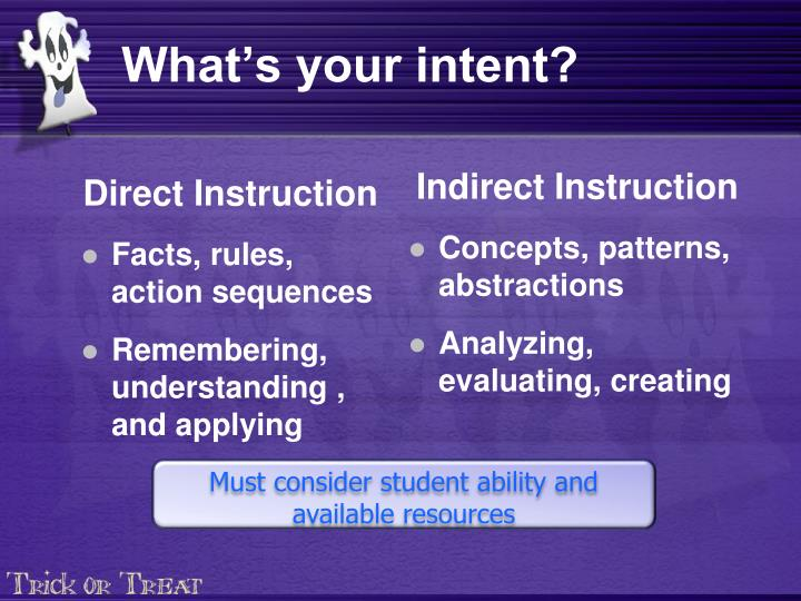What's your intent?