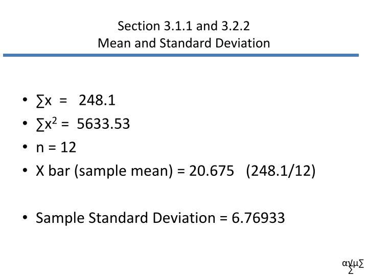 Section 3.1.1 and 3.2.2