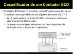 decodificador de um contador bcd