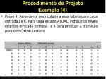 procedimento de projeto exemplo 4