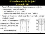 procedimento de projeto exemplo 6