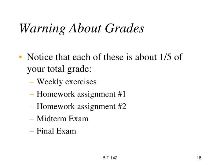 Warning About Grades