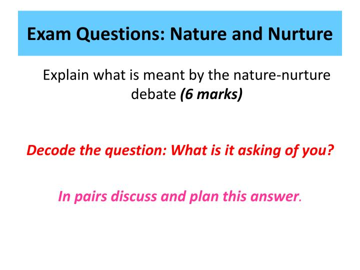 d1 the nature and nurture debate