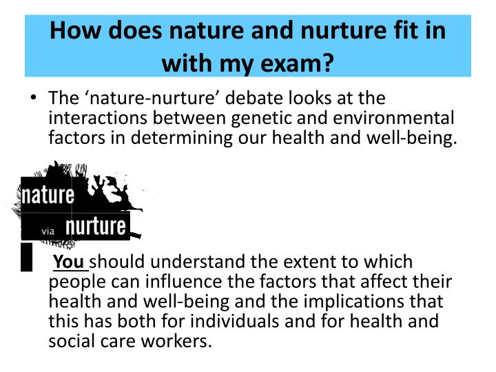 the effects of nature or nurture In his new book the nurture effect: how the science of human behavior can improve our lives and our world, psychologist anthony biglan, a senior scientist at the oregon research institute, describes how interventions aimed at creating nurturing environments could help solve some of society's most.