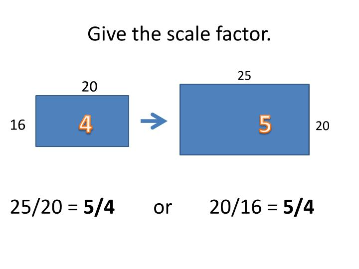 Give the scale factor