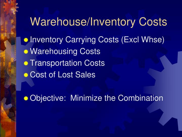 Warehouse/Inventory Costs