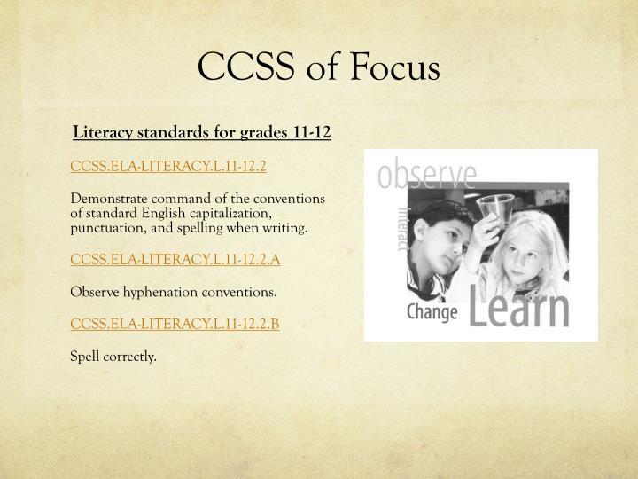 Ccss of focus