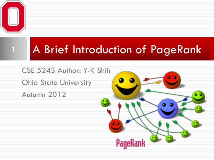 a brief introduction of pagerank n.