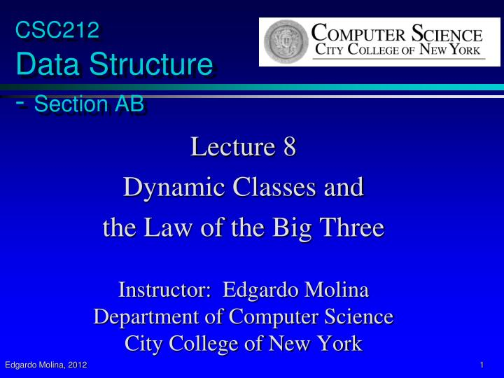 csc212 data structure section ab n.