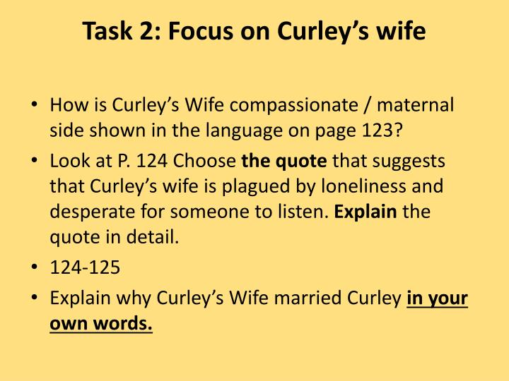 curleys wife loneliness quotes with page numbers