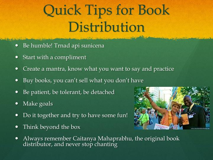 Quick Tips for Book Distribution