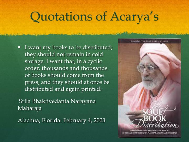 Quotations of Acarya's