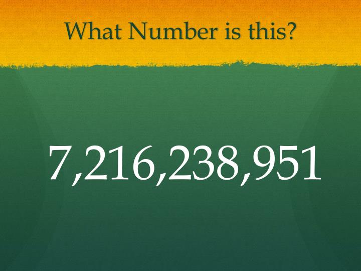 What number is this