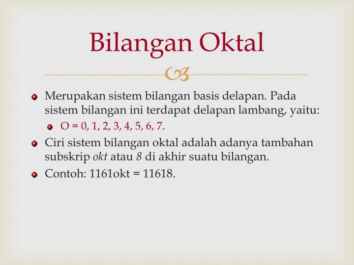 Bilangan Oktal