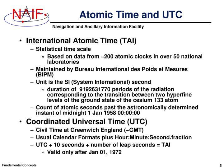 Atomic Time and UTC