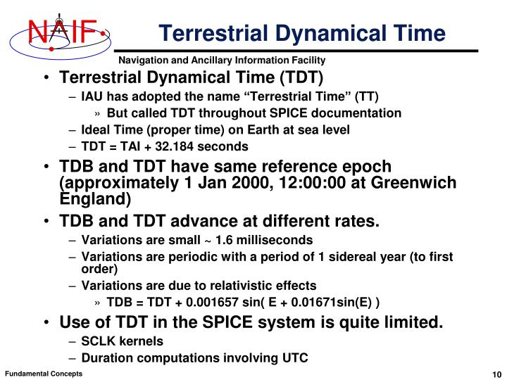 Terrestrial Dynamical Time