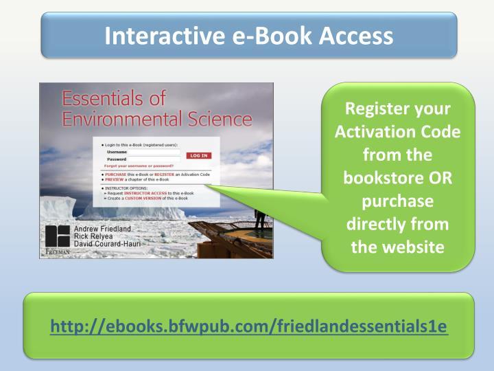 Interactive e-Book Access