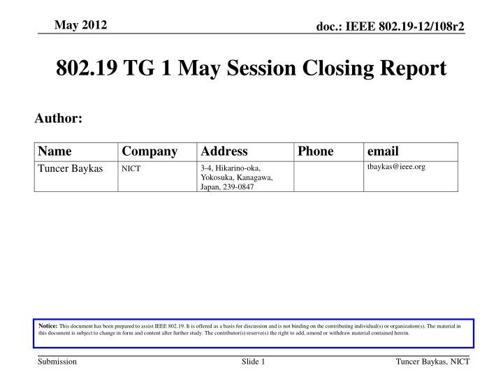 802 19 tg 1 may session closing report n.