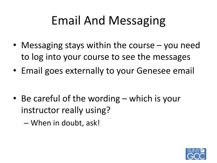 Email And Messaging