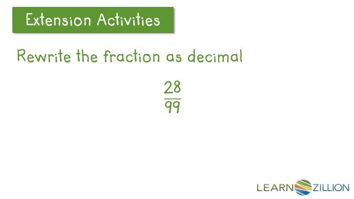 Rewrite the fraction as decimal