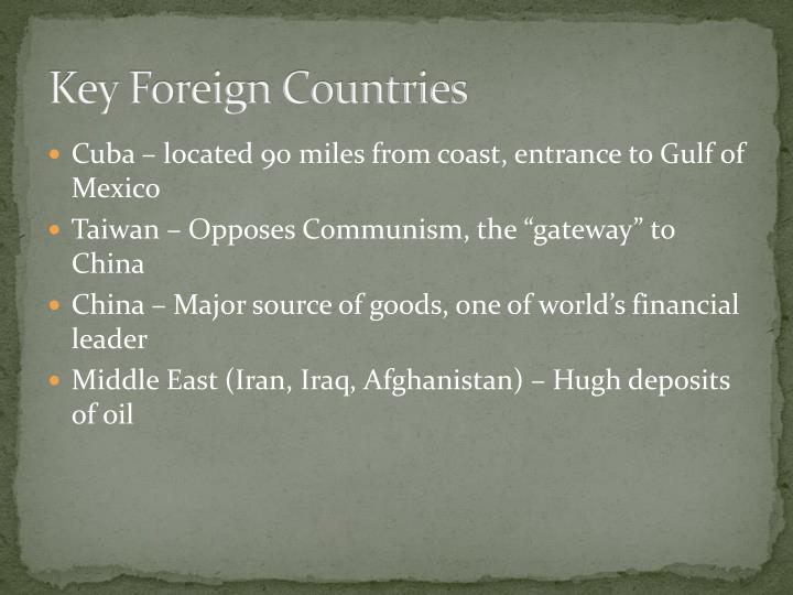 Key Foreign Countries