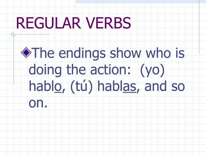 Regular verbs1