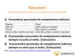resumen pronombres personales de complemento indirecto