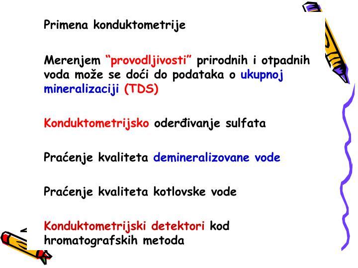 Primena konduktometrije