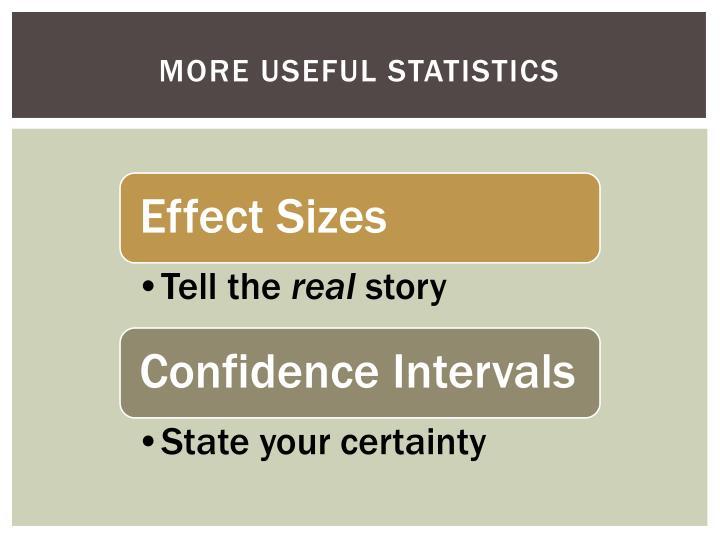 More Useful Statistics