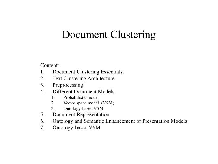 Document clustering