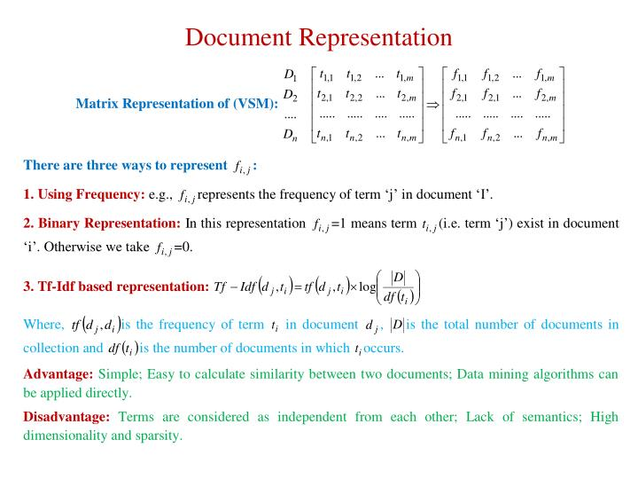Document Representation