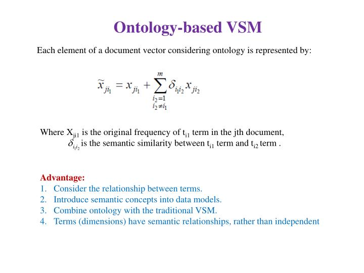 Ontology-based VSM